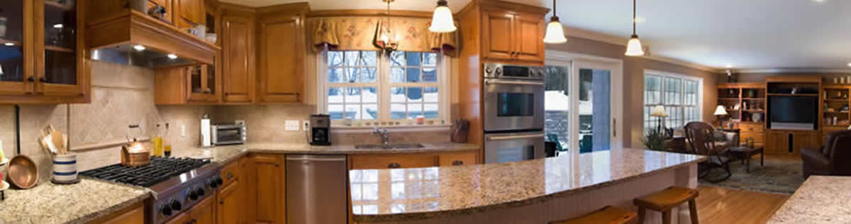 custom kitchen panorama